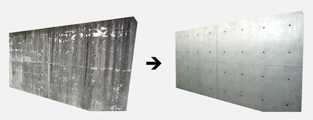 打ち放しコンクリートの建物を復元する-G-PFシステム工法